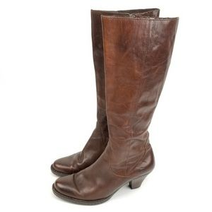 Born boots knee high brown leather size 7 (38)